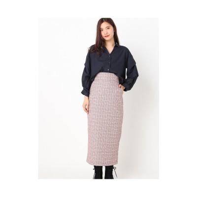 archives チェックワイドベルトタイトスカート ENJI