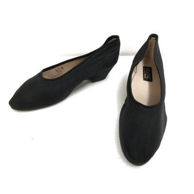 【中古】ELEVE パンプス 23.5 ブラック 黒 シューズ 靴 レディース 【ベクトル 古着】