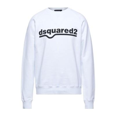 ディースクエアード DSQUARED2 スウェットシャツ ホワイト XL コットン 100% スウェットシャツ