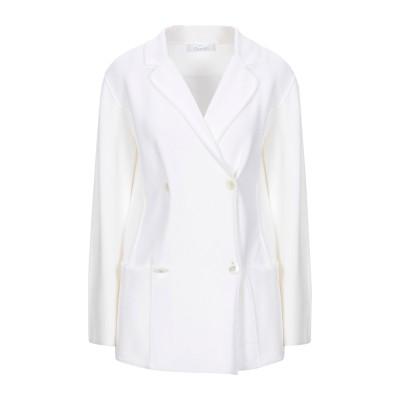 クルチアーニ CRUCIANI テーラードジャケット ホワイト 40 コットン 80% / ポリウレタン 20% テーラードジャケット