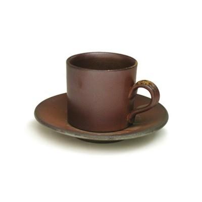 【備前焼/セール】【父の日・母の日・お祝い・内祝い】桟切 コーヒーセット平型