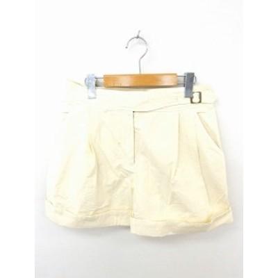 【中古】ドゥーズィエムクラス DEUXIEME CLASSE パンツ ショート ロールアップ ジップフライ 綿 36 ライトベージュ