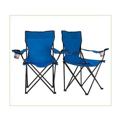 Homewell ポータブル折りたたみ椅子 アウトドア/ビーチ/キャンプ用 (ブルー、2パック)