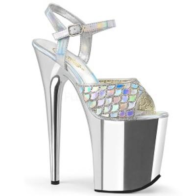 Pleaser(プリーザー) FLAMINGO-809MMRS 超厚底サンダル 8inch Heel, 4inch Chrome PF Ankle Strap Sandal◆取り寄せ