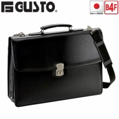 ビジネスバッグ 日本製 自立 大き目 クラッチバッグ メンズ ブランド G-GUSTO No:23472 B4 A4ファイル対応 鍵付き ショルダー付き ブリー