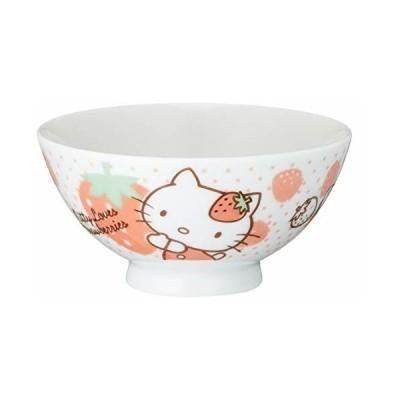 サンリオ(SANRIO) 「 Hello Kitty(ハローキティ) 」 いちごキティ お茶碗 直径11cm 白 302531