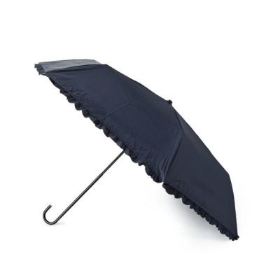 ESPERANZA / 【晴雨兼用】[UV99%カット]ヒートカットフリル折り畳み傘 WOMEN ファッション雑貨 > 折りたたみ傘
