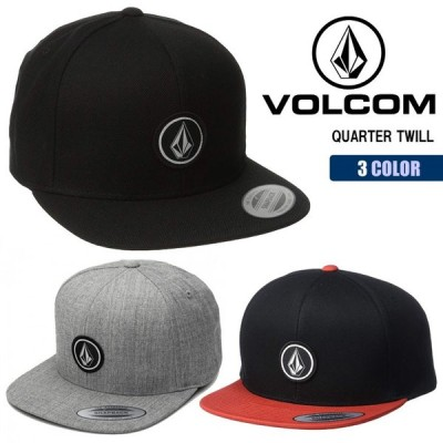 VOLCOM ボルコム キャップ QUARTER TWILL クォーターツイル スナップバック 帽子 CAP 6パネル 調節可能 メンズ 2019年秋冬 品番 D5511561 日本正規品