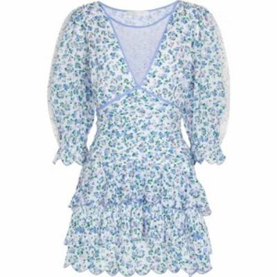ラブシャックファンシー LOVESHACKFANCY レディース ワンピース ミニ丈 ワンピース・ドレス Marquise floral cotton minidress Blue Jay