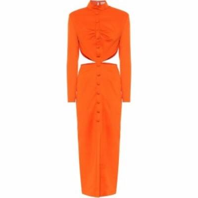マテリエルティビリシ Materiel Tbilisi レディース ワンピース マキシ丈 ワンピース・ドレス Wool Twill Maxi Dress Salamander