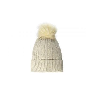 Hat Attack ハットアタック レディース 女性用 ファッション雑貨 小物 帽子 ビーニー ニット帽 Classic Cable Pom Hat - Oat