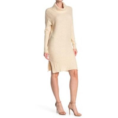 スティッチドロップ レディース ワンピース トップス Cowl Neck Knit Dress LT OATMEAL HEATHER