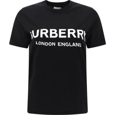 バーバリー Burberry レディース Tシャツ トップス T-Shirt With Logo Black
