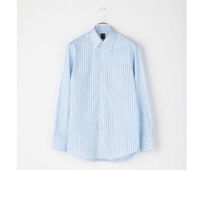 SD: オルタネートストライプ イタリアンボタンダウンシャツ(スカイブルー)