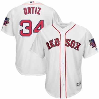 Majestic マジェスティック スポーツ用品  Majestic David Ortiz Boston Red Sox White Cool Base Jersey with Retirement