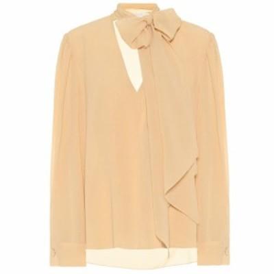 クロエ Chloe レディース ブラウス・シャツ トップス Silk-georgette blouse Light Sand