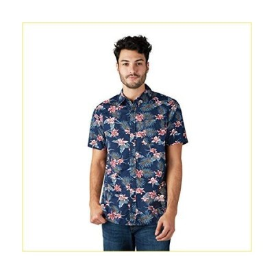 LEE Men's Button Down Stretch Printed Shirt, Short Sleeve, Regular, Big & Tall