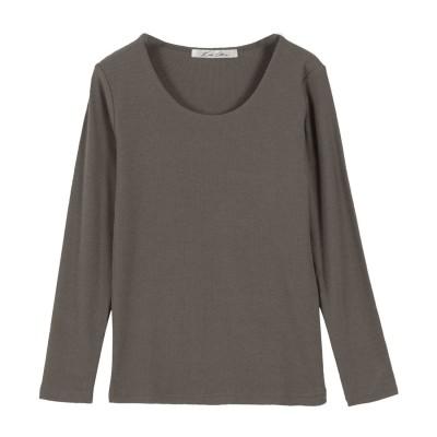 コウベレタス KOBE LETTUCE 【透けにくい】前身二重長袖Tシャツ【Uネック】 [C3655] (スミクロ)