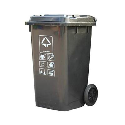 送料無料!liangzishop Outdoor Garbage Can Launched Heavy Duty Wheeled Trash Can, Large Outdoor Trash Can, 100L, Grey Commercial Waste C