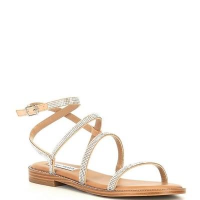 スティーブ マデン レディース サンダル シューズ Transport-R Strappy Rhinestone Sandals