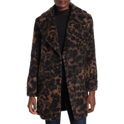 ケンジー レディース ジャケット&ブルゾン アウター Leopard Printed Coat LEOPARD