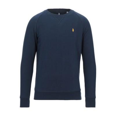 WALTBAY® スウェットシャツ ダークブルー XS オーガニックコットン 100% スウェットシャツ