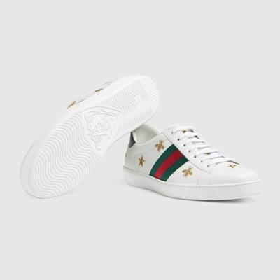 グッチ GUCCI☆メンズMens Ace embroidered sneakerスニーカー【386750 02JQ0 9073 】【送料無料】【正規品】