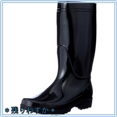 [フジテブクロ] 長靴 軽半 レインブーツ PVC スタンダード 9661 メンズ BLACK