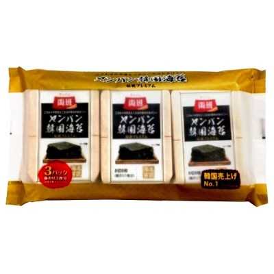 東遠ジャパン ヤンバン 韓国海苔 伝統プレミアム (8切8枚)×3パック