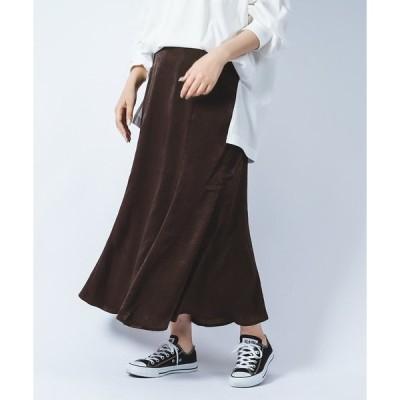 スカート ヴィンテージサテンスカート/サテンマーメイドスカート/【WEB/EC限定商品】