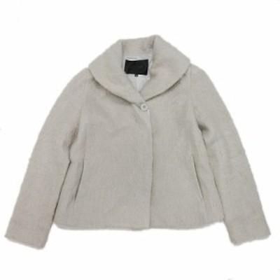 【中古】アンタイトル UNTITLED ハーフ コート ジャケット 起毛 ブルゾン 0 グレー/4@ レディース