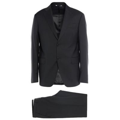トラサルディ ジーンズ TRUSSARDI スーツ ブラック 50 バージンウール 100% スーツ