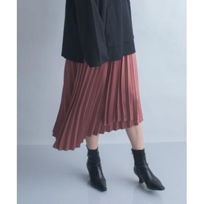 JEANASIS / 【eL】MatSatin PleatedSkirt/892679 WOMEN スカート > スカート