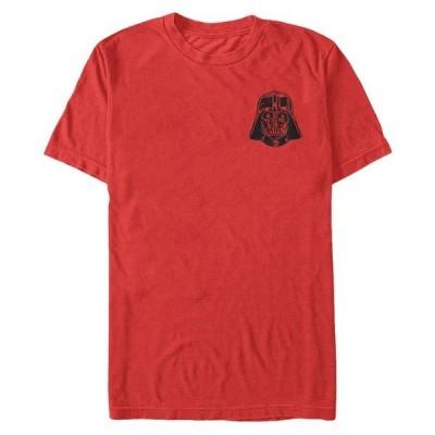 フィフスサン Tシャツ トップス メンズ Star Wars Men's Vader Detailed Pocket Helmet Short Sleeve T-Shirt Red