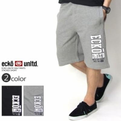 エコーアンリミテッド(ECKO UNLTD) ハーフパンツ スウェット B系 ハーフパンツ B系ファッション メンズ STACKED SHORT