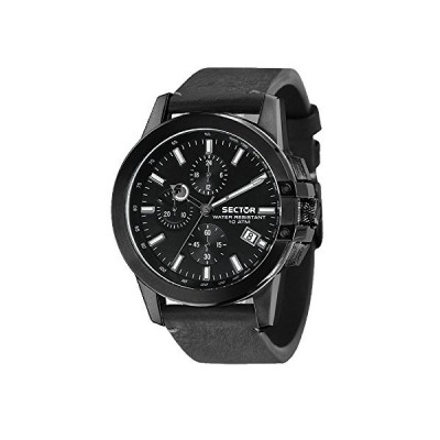 SECTOR Mens Chronograph Quartz Watch with Leather Strap R3271797003 並行輸入品