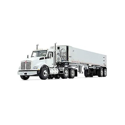 First Gear 1/50 Scale Diecast Collectible White/Chrome Kenworth T880 with E並行輸入品