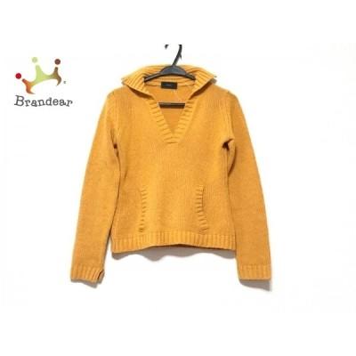 ザノーネ ZANONE 長袖セーター サイズ42 L レディース - オレンジ Vネック   スペシャル特価 20210221