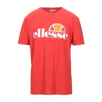 ELLESSE T シャツ レッド M コットン 100% T シャツ