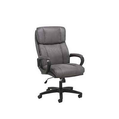 OFM Essentials Collection Plush High-Back Microfiber Office Chair, in Gray (ESS-3081-GRY)並行輸入品