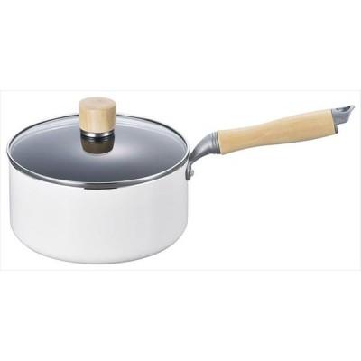 白いパン IH対応片手鍋18cm(MA-9373) 4903779093739