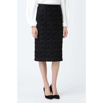 ADORE / アドーア 《BLACK LABEL》ラメフローティングジャガードタイトスカート