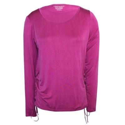 レディース 衣類 トップス Majestic Filatures womens Long Sleeve Lace Up Side Tee Tシャツ