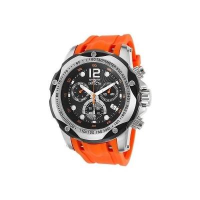 インヴィクタ 20072 52ミリ スピードウェイ クロノグラフ タキメーター オレンジ ストラップ メンズ 腕時計