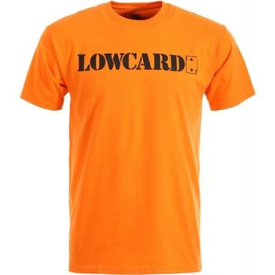 ローカード スタンダード 半袖 Tシャツ オレンジ スケート LOWCARD STANDARD S/S T-SHIRT ORANGE
