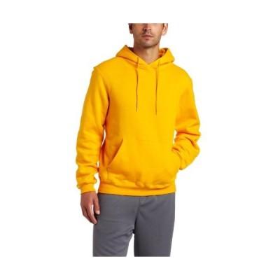 Soffe Mens Training Fleece Hooded Sweatshirt Gold Large
