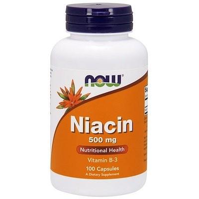 ナイアシン, 500 mg, 100カプセル