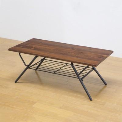 折りたたみテーブル 収納棚付き テーブル 折りたたみテーブル センターテーブル デスク サイドテーブル おしゃれ ヴィンテージ ソファ ラグ  代引不可