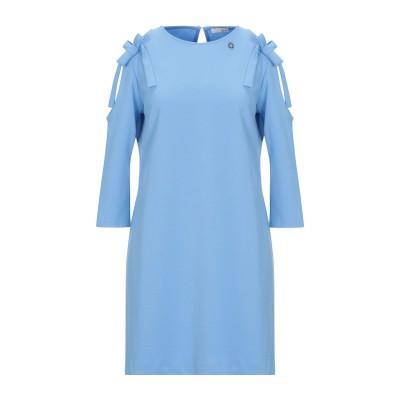 レリッシュ RELISH ミニワンピース&ドレス スカイブルー S ポリエステル 95% / 指定外繊維(その他伸縮性繊維) 5% ミニワンピース&