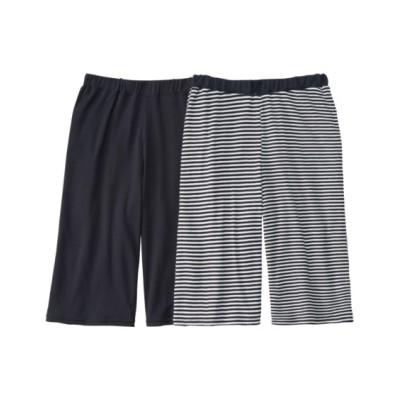 綿100% ハーフパンツ2枚組(L) (パジャマ・ルームウェア)Pajamas